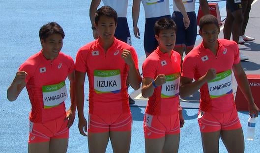 リオ 日本代表 400mリレー 画像
