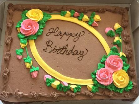 ハーフシートケーキ 画像